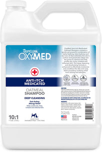 Tropiclean OxyMed - Anti-Itch Medicated Pet Shampoo (20 fl. oz./1 Gal)