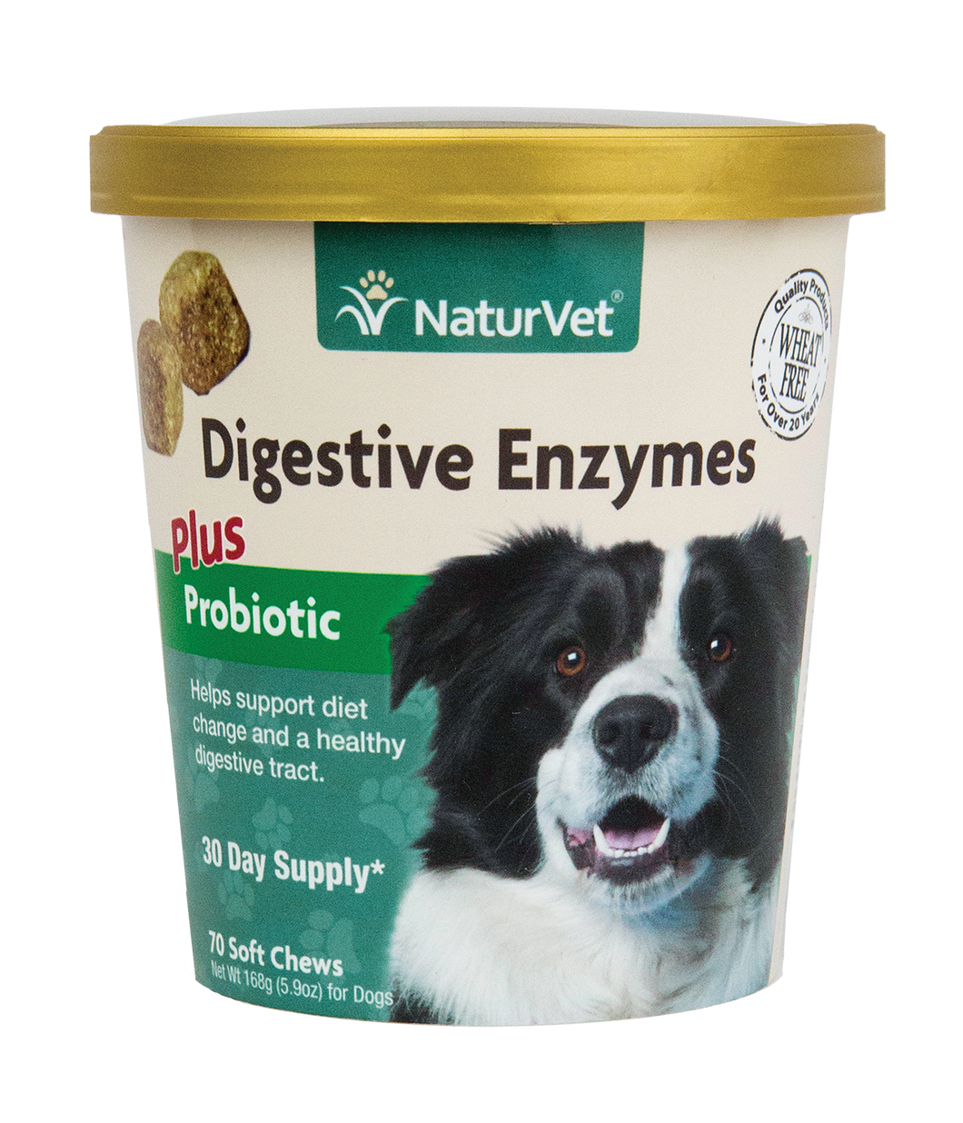 Naturvet Soft Chews - Digestive Enzymes Plus Probiotics 70ct