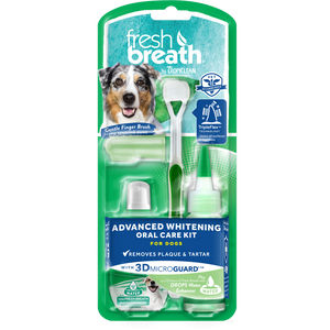 Tropiclean Fresh Breath - Advanced Whitening Oral Care Kit with 3D Micro Guard (S/ML)