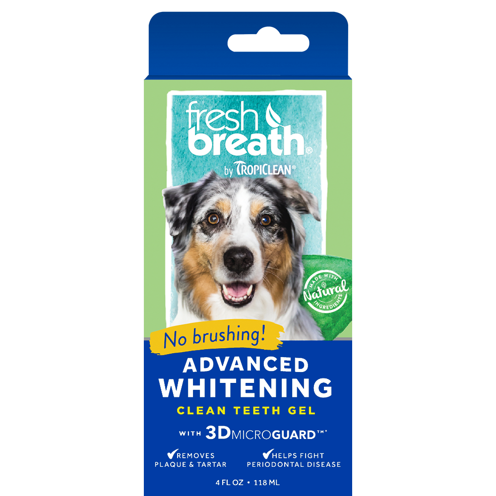 Tropiclean Fresh Breath - Advanced Whitening Gel with 3D Micro Guard 4 fl. oz.