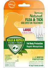 Load image into Gallery viewer, Tropiclean Natural Flea & Tick - Dog Spot-On Treatment (S/M/L)
