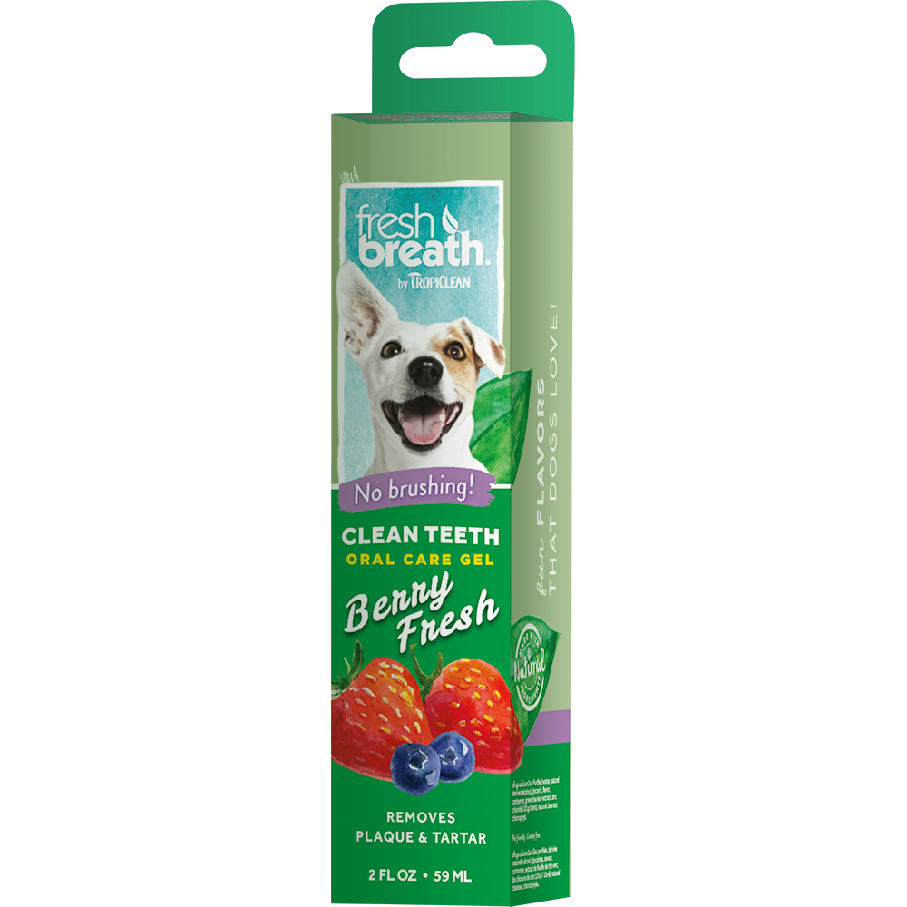 Tropiclean Fresh Breath - Clean Teeth Gel 2 fl. oz. (Berry Fresh/Peanut Butter/Vanilla Mint)