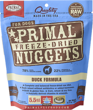 Load image into Gallery viewer, Primal Freeze-Dried Nuggets - Duck Formula