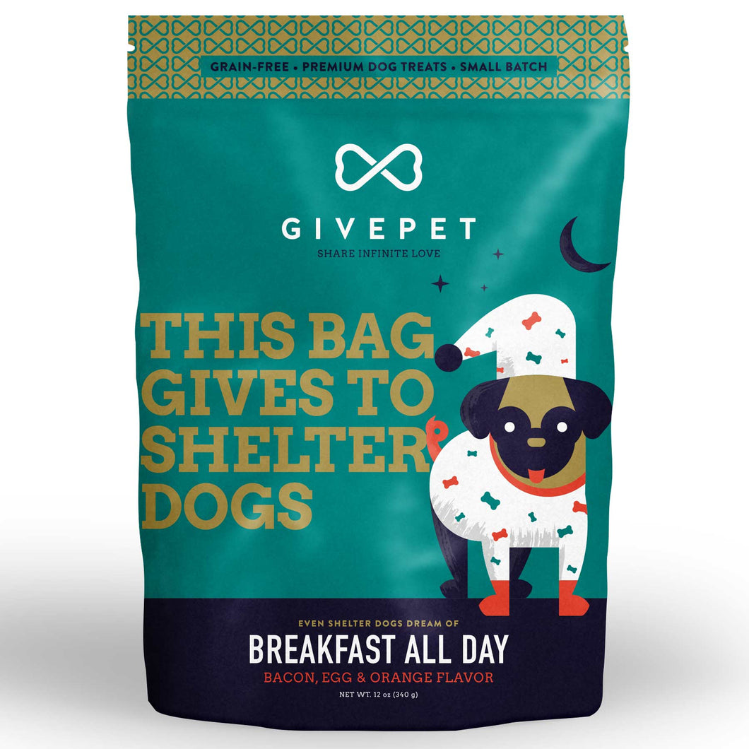 GIVEPET Grain-Free Treats - Breakfast All Day (340g)
