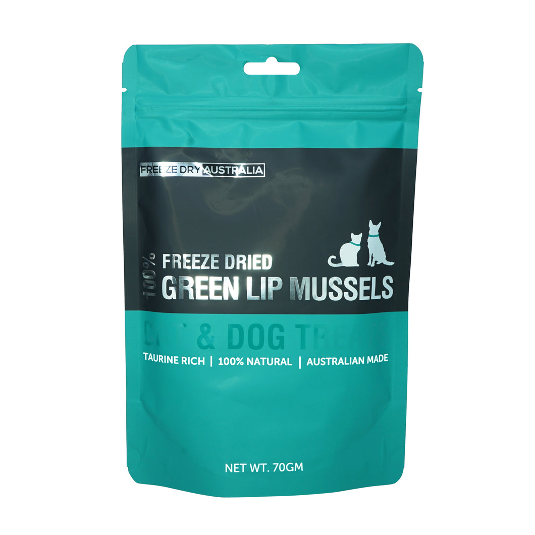 Freeze Dry Australia - Freeze Dried Green Lip Mussels (70g)