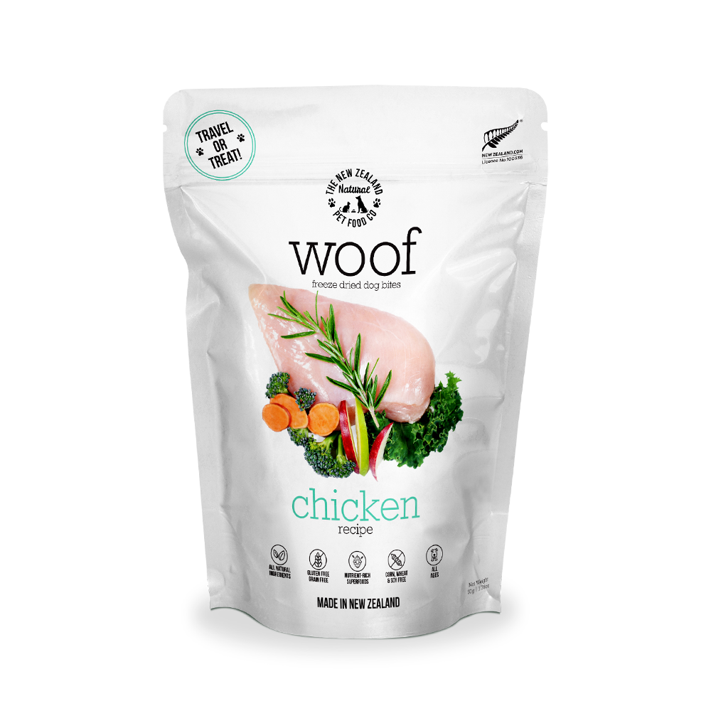 New Zealand Natural Pet Food Woof - Freeze Dried Dog Food Chicken (50g/320g/1.2kg)