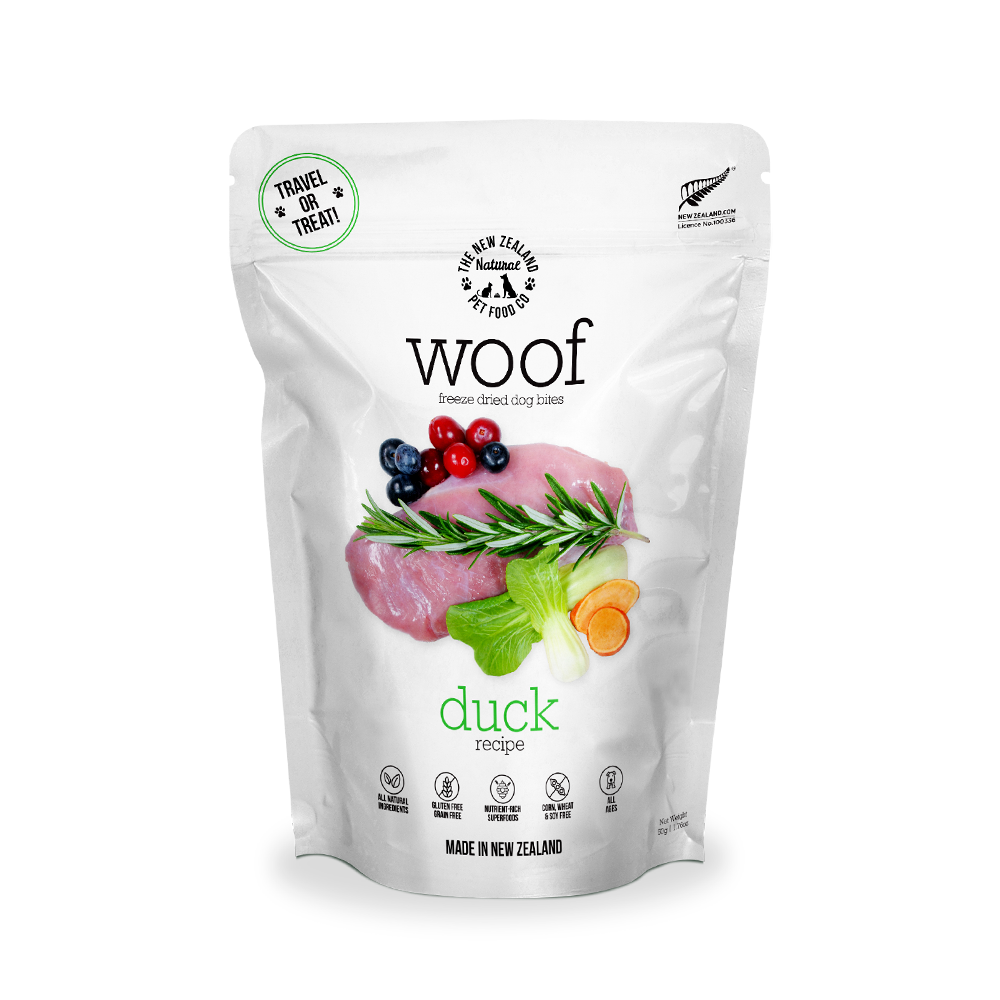 New Zealand Natural Pet Food Woof - Freeze Dried Dog Food Duck (50g/320g/1.2kg)