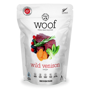 New Zealand Natural Pet Food Woof - Freeze Dried Dog Food Wild Venison (50g/280g/1.2kg)