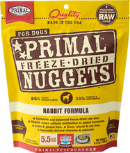 Load image into Gallery viewer, Primal Freeze-Dried Nuggets - Rabbit Formula