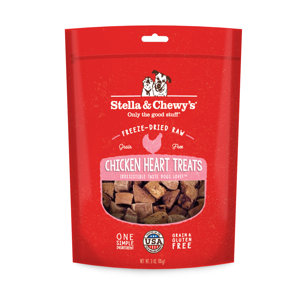 Stella & Chewy's Single Ingredient - Chicken Heart Treats 3oz
