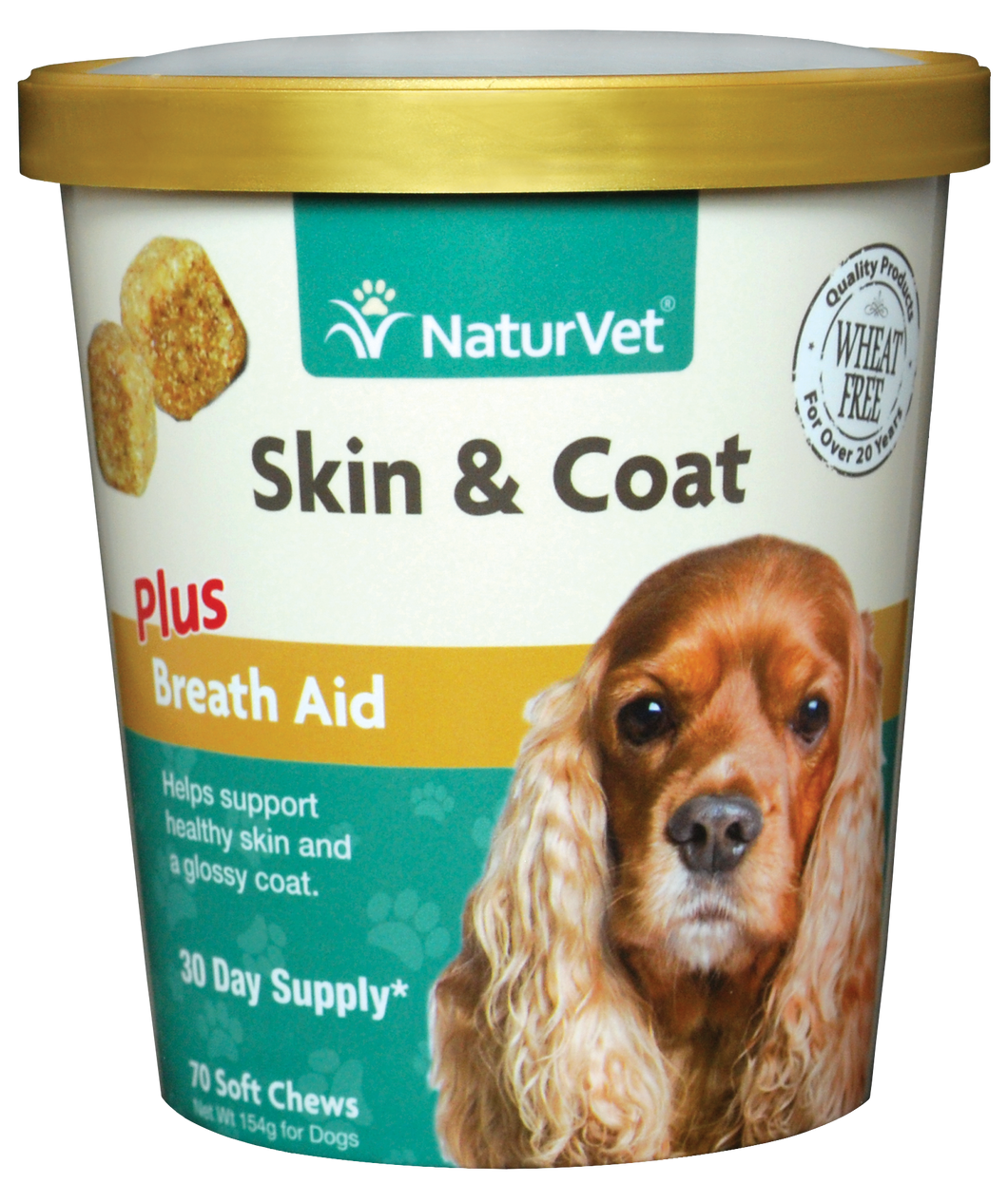 Naturvet Soft Chews - Skin & Coat Plus Breath Aid 70ct