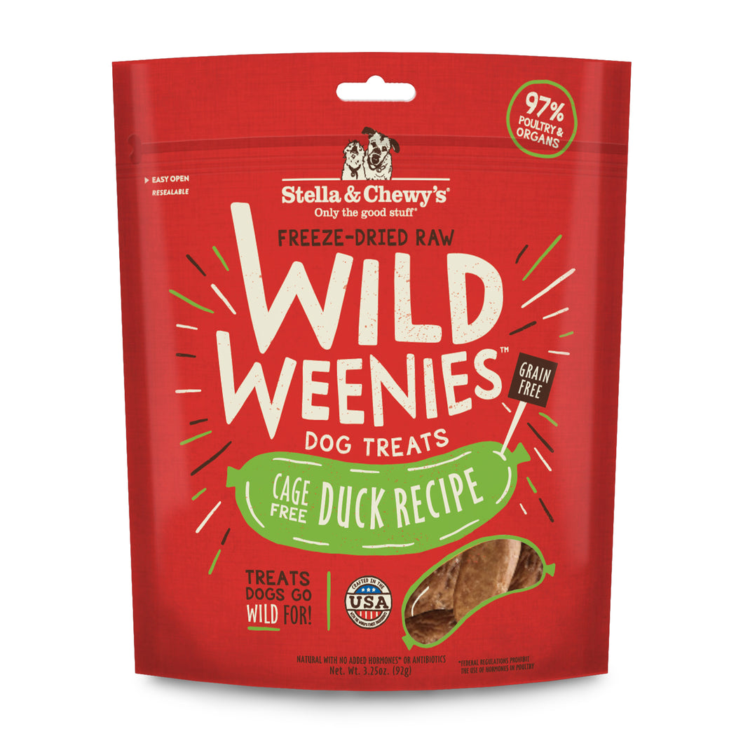 Stella & Chewy's Wild Weenies - Cage-Free Duck Recipe Treats 3.25oz