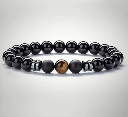 New charms Beaded bracelet men women natural tiger eye stone beads bracelets bangles friendship homme bracelet Jewelry gift