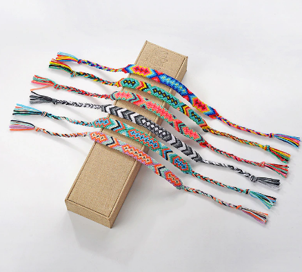 Hot Bohemian Thread Bracelet Retro Handmade Boho Multicolor String Cord Woven Braided Hippie Friendship Bracelets Women Men