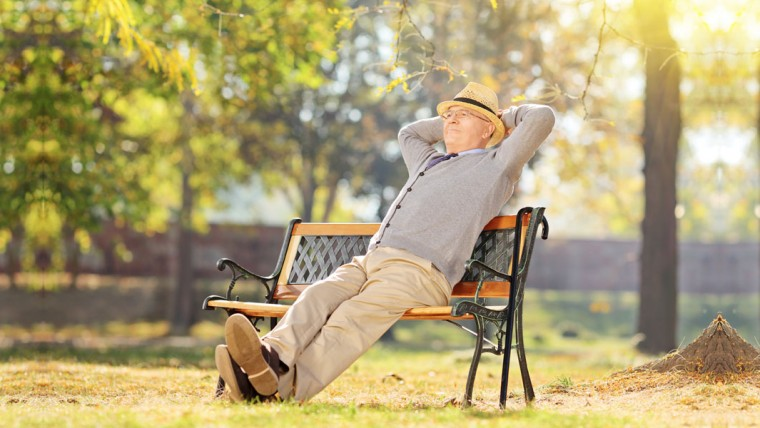 relaxed old man | 6 Ways Cannabis Shows Promise To Relieve Chronic Disease In Seniors | Blumenes CBD Blog