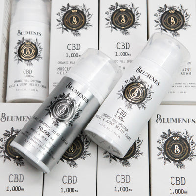 organic full spectrum CBD 1,000mg and Hemp 10,000mg Relief Cream Bundle