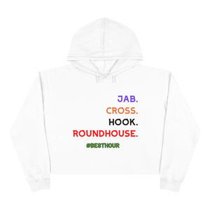 JAB/CROSS in a Women's Crop Hoodie