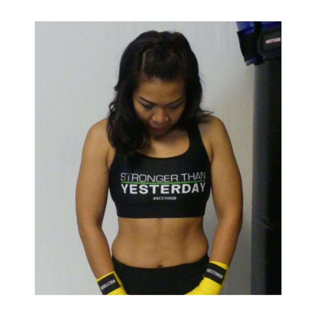 Stronger Than Yesterday Padded Sports Bra