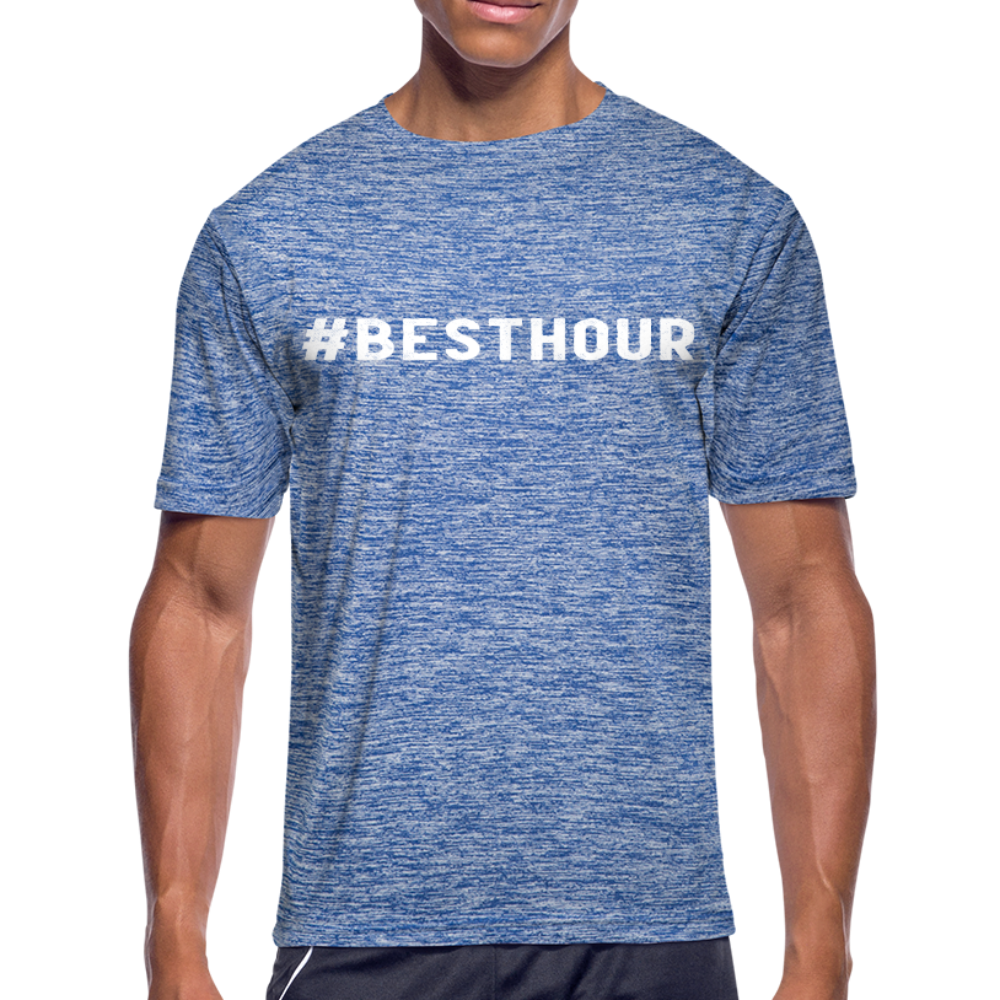 Unisex Moisture Wicking Performance T-Shirt - heather blue