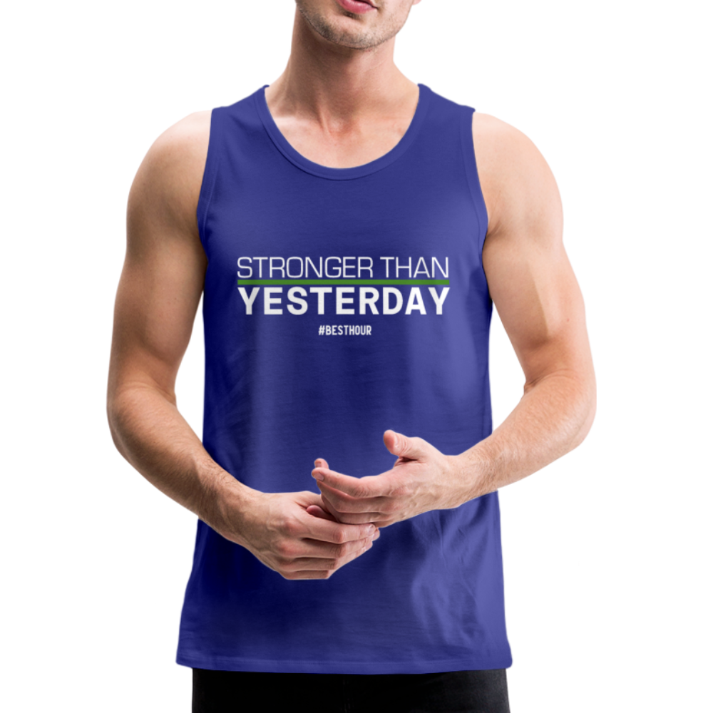 STRONGER than YESTERDAY Men's Tank Top - royal blue