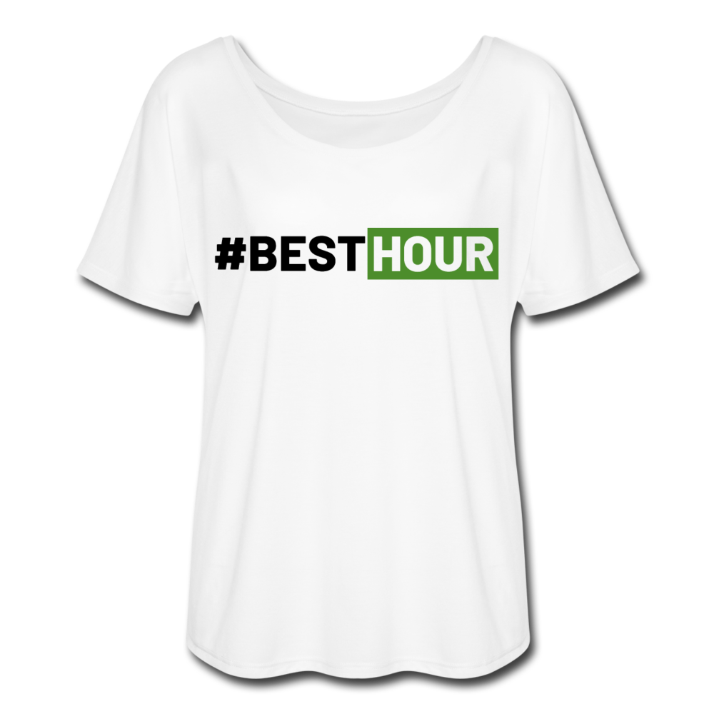 BEST HOUR Women's Flowy T-Shirt - white