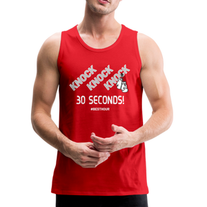 KNOCK KNOCK KNOCK 30 Seconds! Sleeveless Tee - red