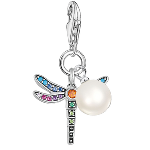Charms Dragonfly with Pearl