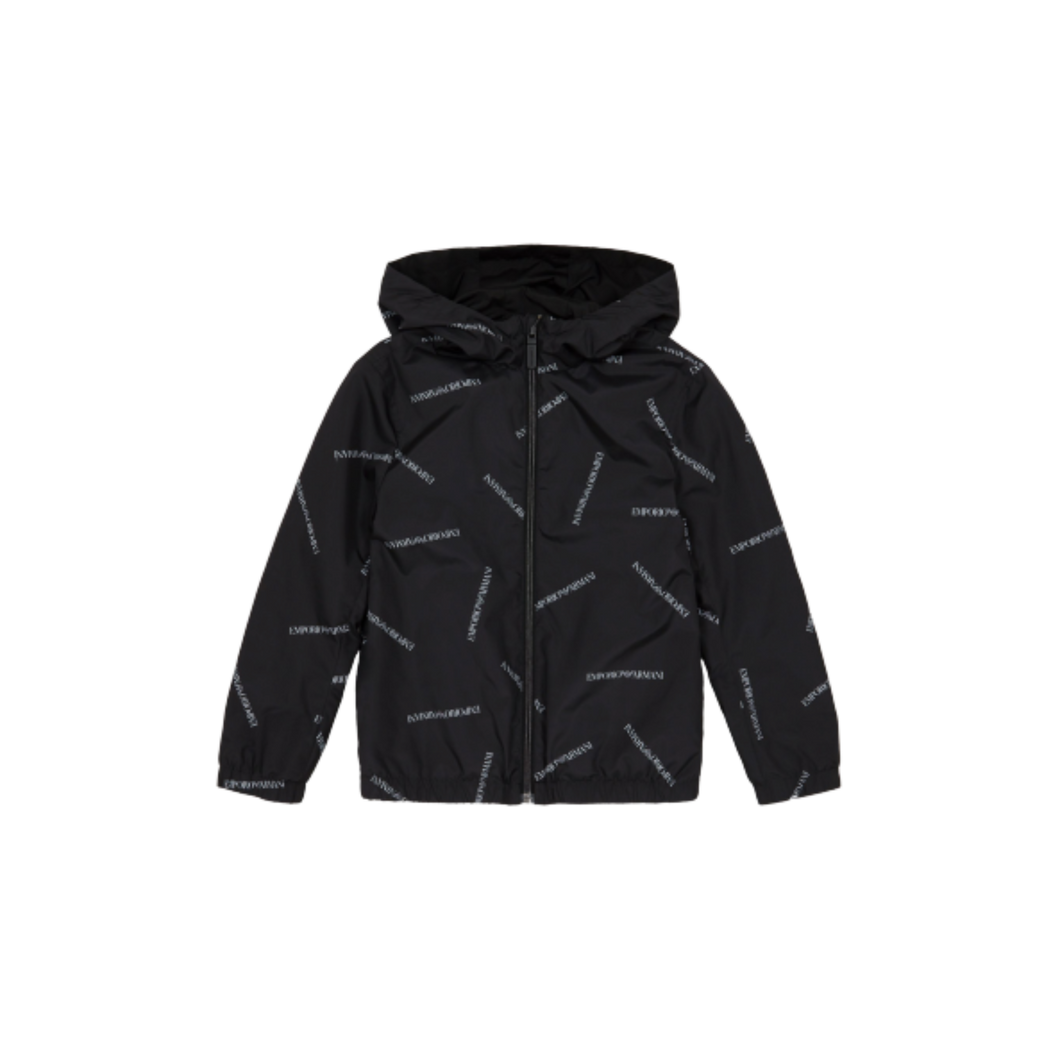Reversible Jacket With All-Over Logo