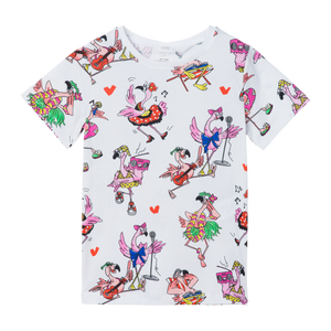 Flamingo Party SS Tee