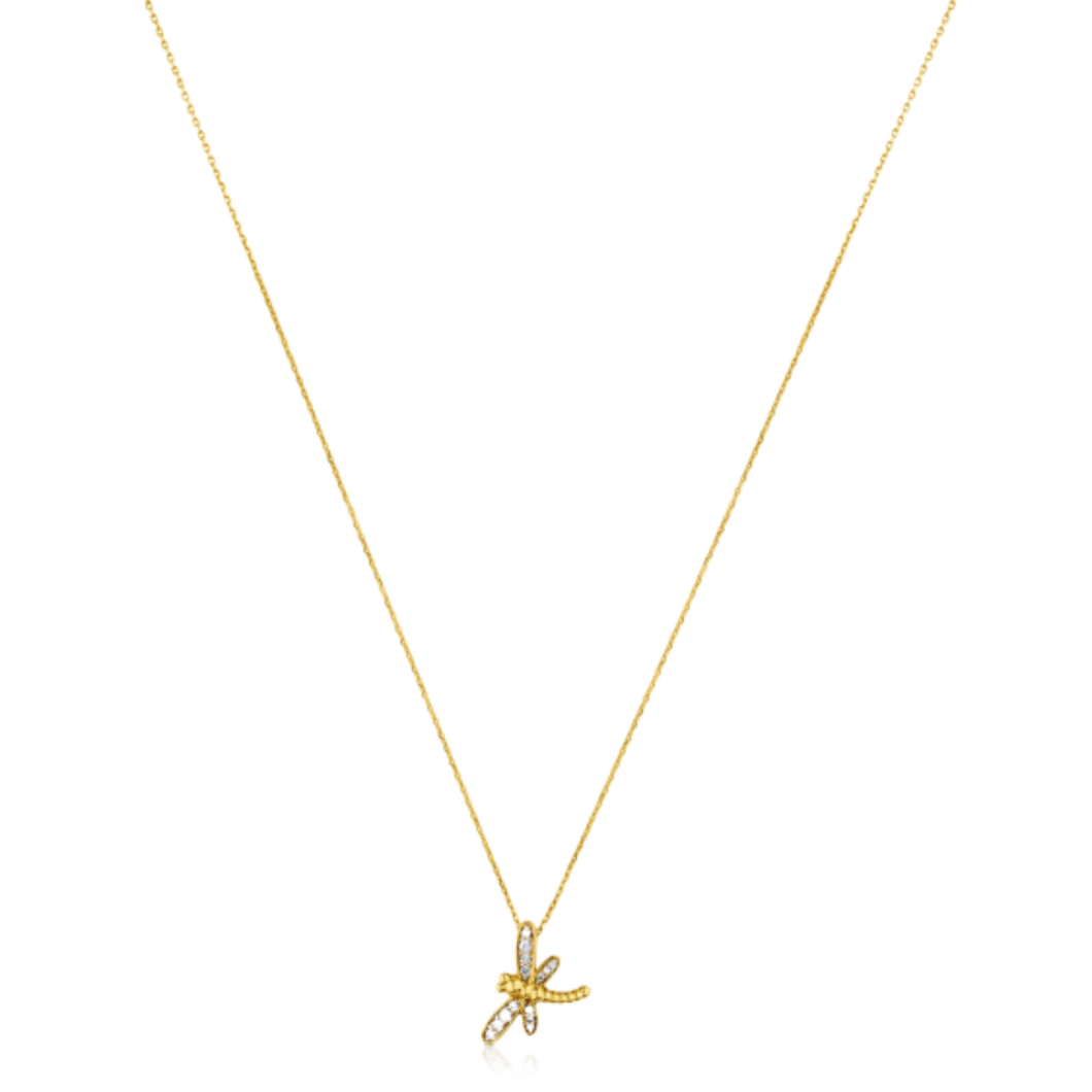 Bera Necklace In Gold With Diamonds