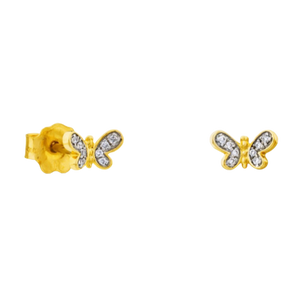 Bera Earrings In Gold With Diamonds