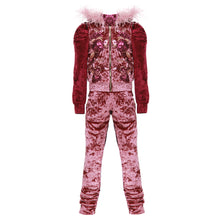 Load image into Gallery viewer, Velvet Red Tracksuit
