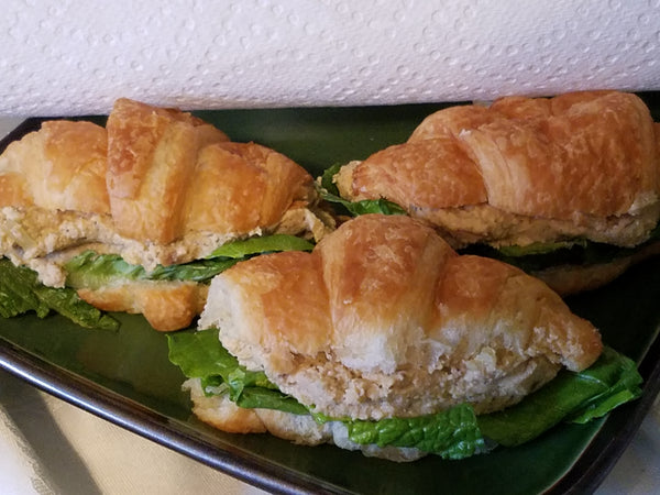 Dill Chicken (or Turkey) Salad Croissant Sandwiches