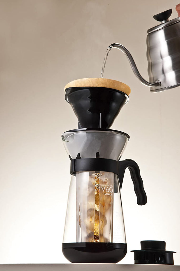 V60 Fretta Ice Coffee Maker with Handle Black 700ml