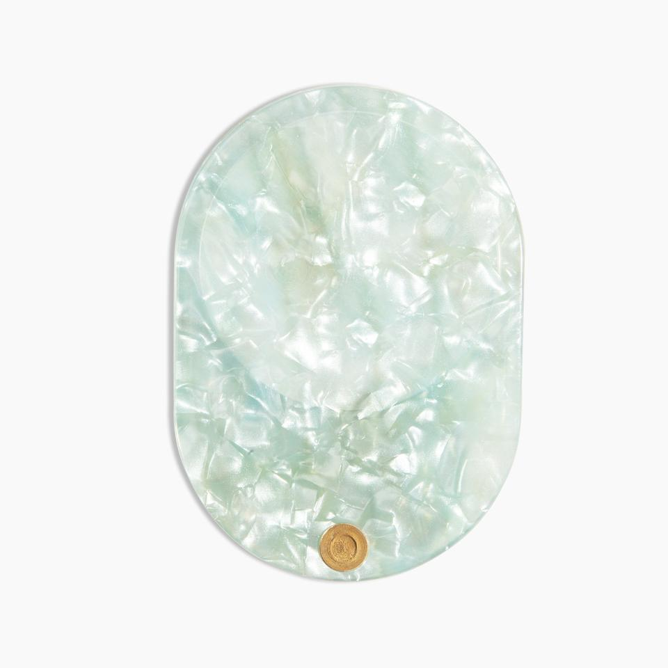 Hand mirror in mint