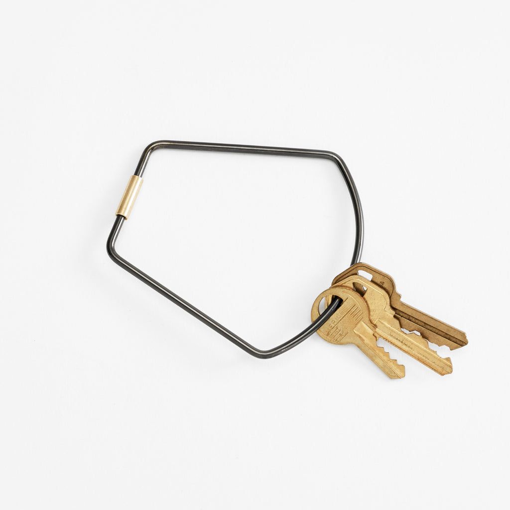 Bell key ring in black