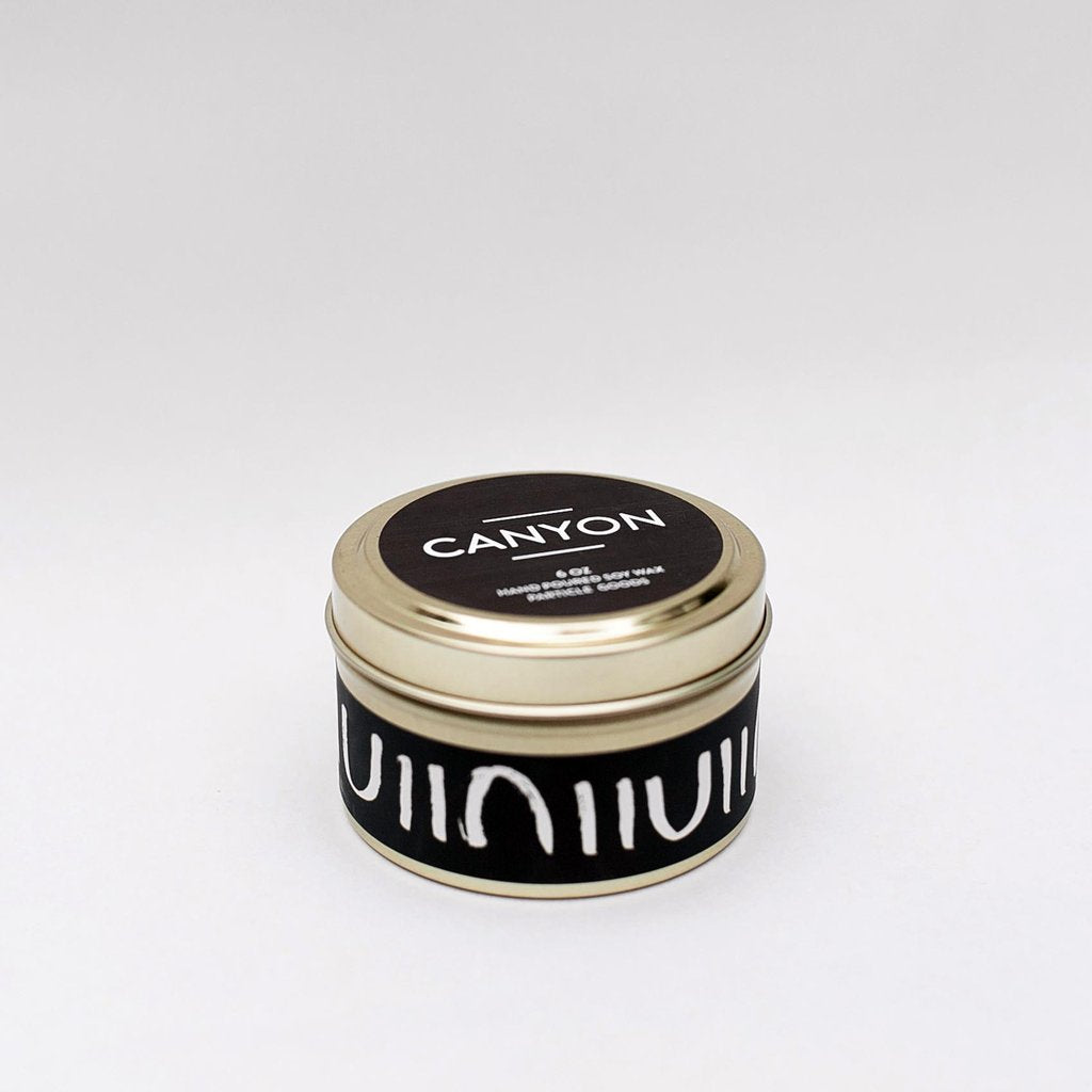 Canyon tin candle