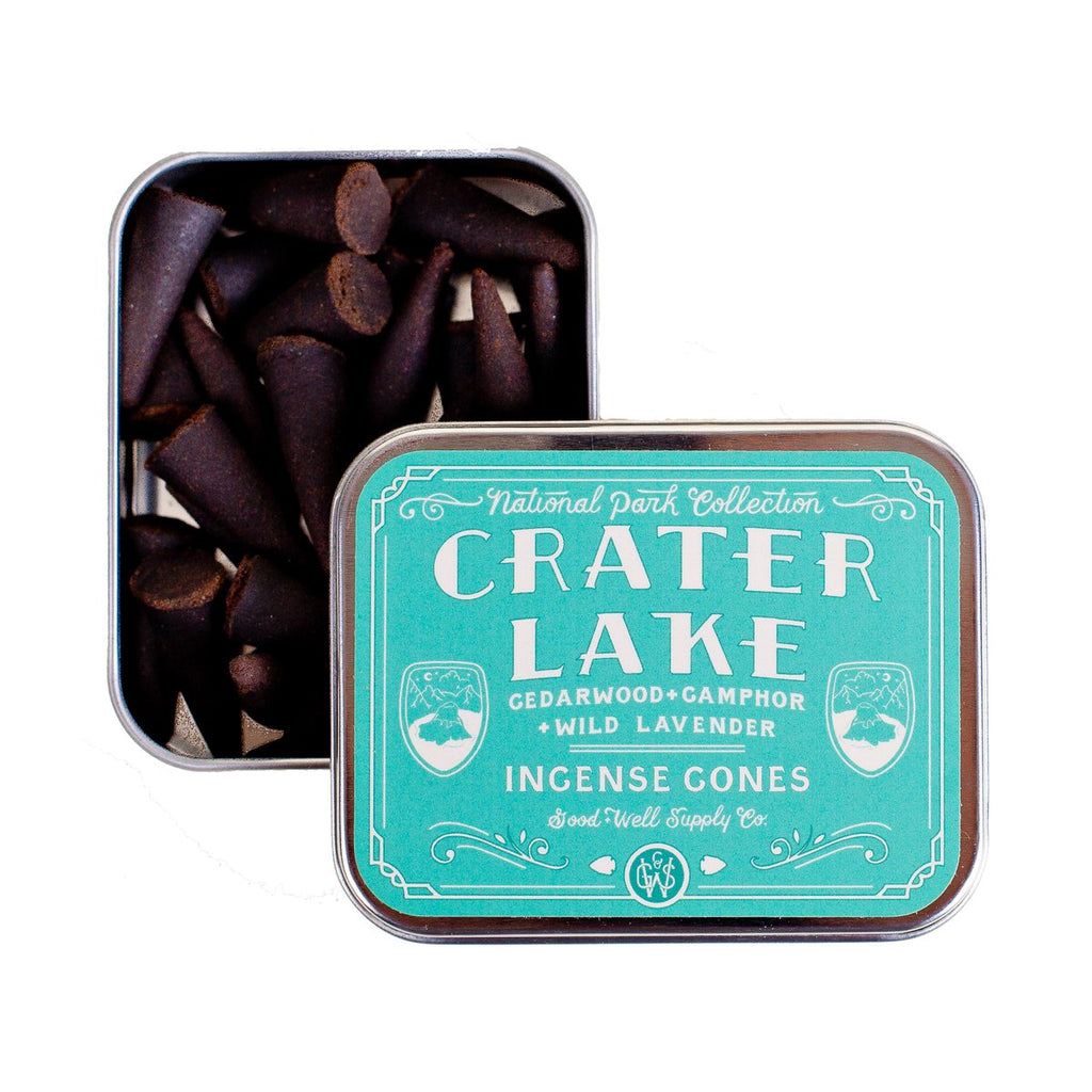Crater Lake incense in tin