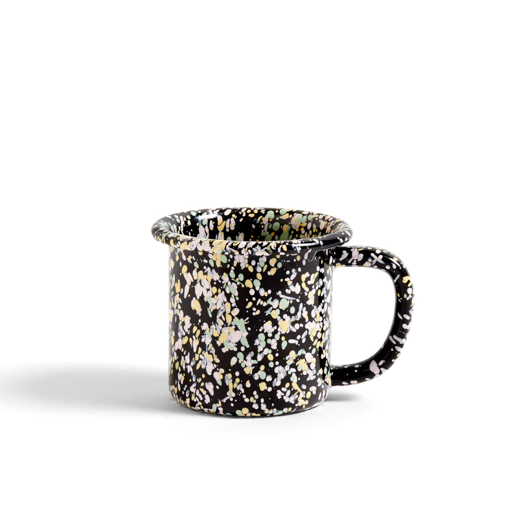 Enamelware mug in black