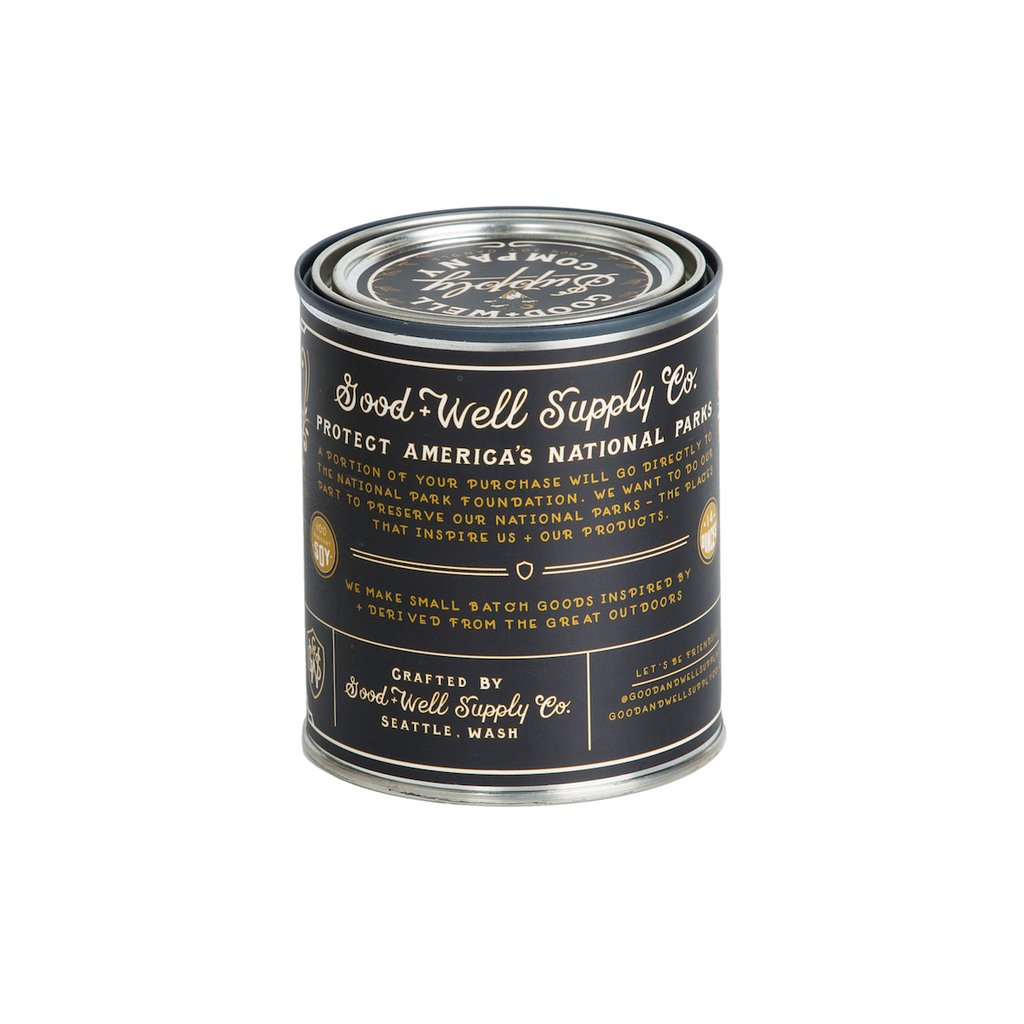 Great Basin tin candle