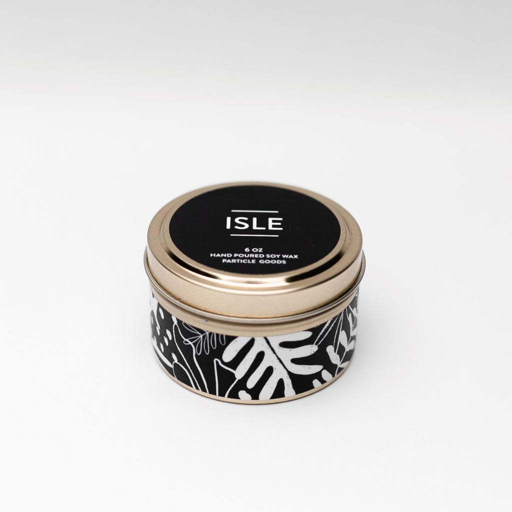 Isle tin candle