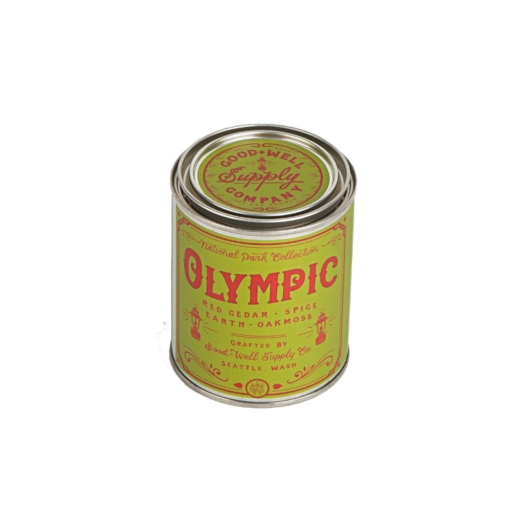 Olympic tin candle