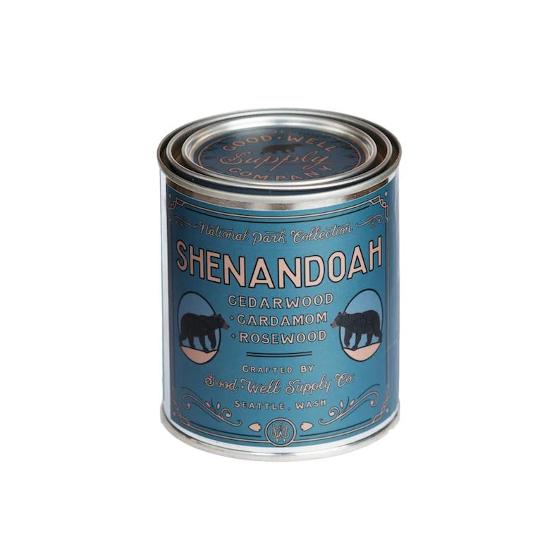 Shenandoah tin candle