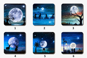 Set of 4 Variety Moon Struck Coasters