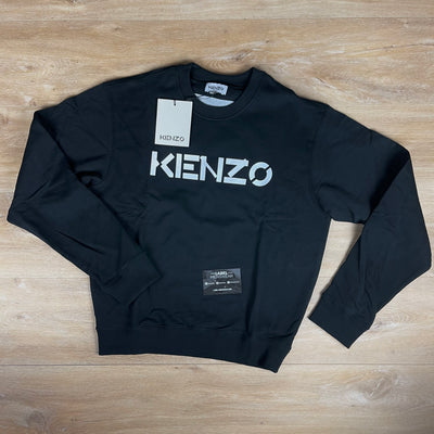Kenzo Logo Print Sweatshirt in Black - LABEL MENSWEAR