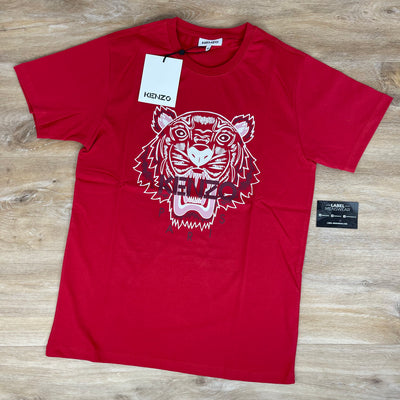 Kenzo Tiger Print T-Shirt in Red - LABEL MENSWEAR