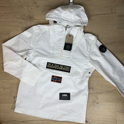 Napapijri Rainforest Jacket in White - LABEL MENSWEAR