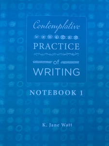 pale blue cover with white text contemplative practice of writing workbook 1