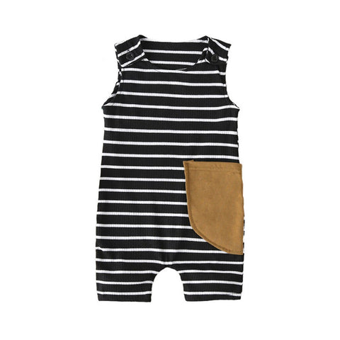 Baby Boys Sleeveless Ribbed Jumpsuit