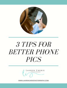 Tips for Better Phone Pics | e-book